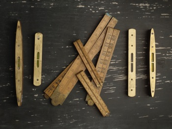 Salvaged and Reclaimed Folding Wooden Ruler