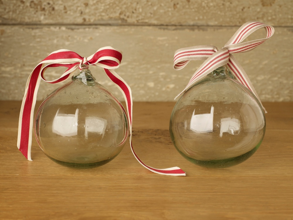 Recycled Hand Blown Glass baubles