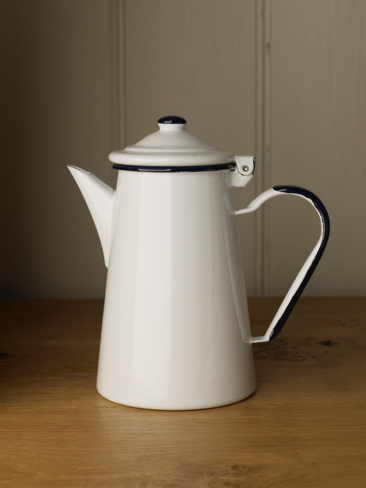 Traditional Enamel Coffee Pot