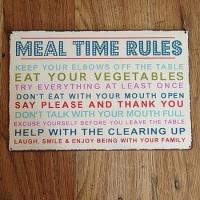 Vintage Mealtime Rules