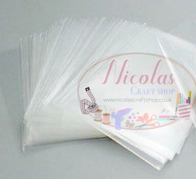 A6 Cellophene self seal craft bags - PACK OF 10