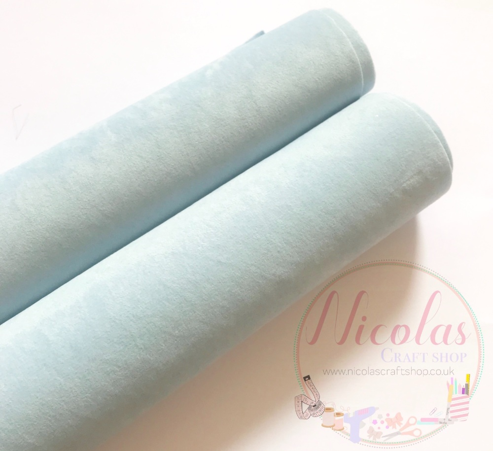 Double sided baby blue velvet sheet a4