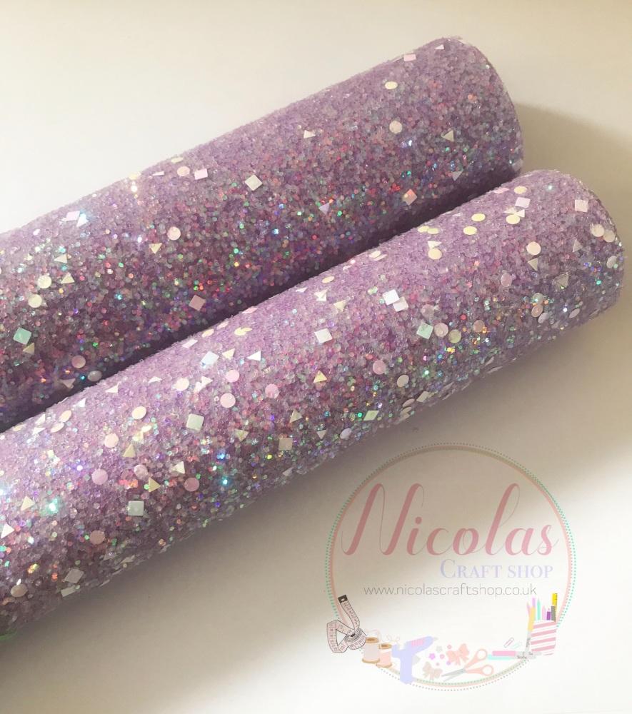 Purple a grade shape sequin chunky glitter