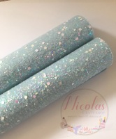 Baby Blue a grade shape sequin chunky glitter