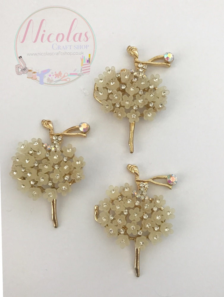 Beautiful Bling White ballerina embellishment