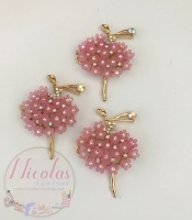 Beautiful Bling Pink ballerina embellishment