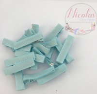 Baby Blue Pre lined 45mm alligator clips (pack of 10)