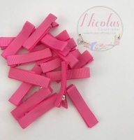 Pink Pre lined 45mm alligator clips (pack of 10)