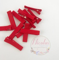 Red  Pre lined 45mm alligator clips (pack of 10)