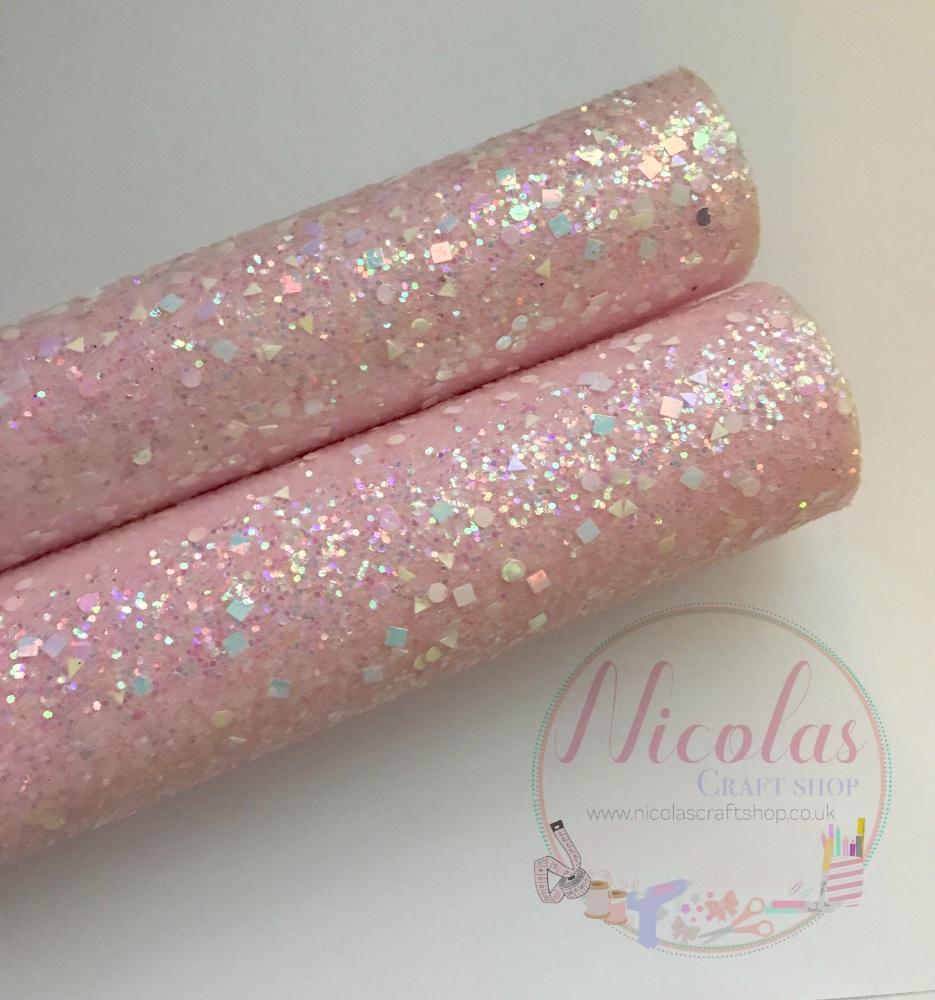 Light Pink a grade shape sequin chunky glitter