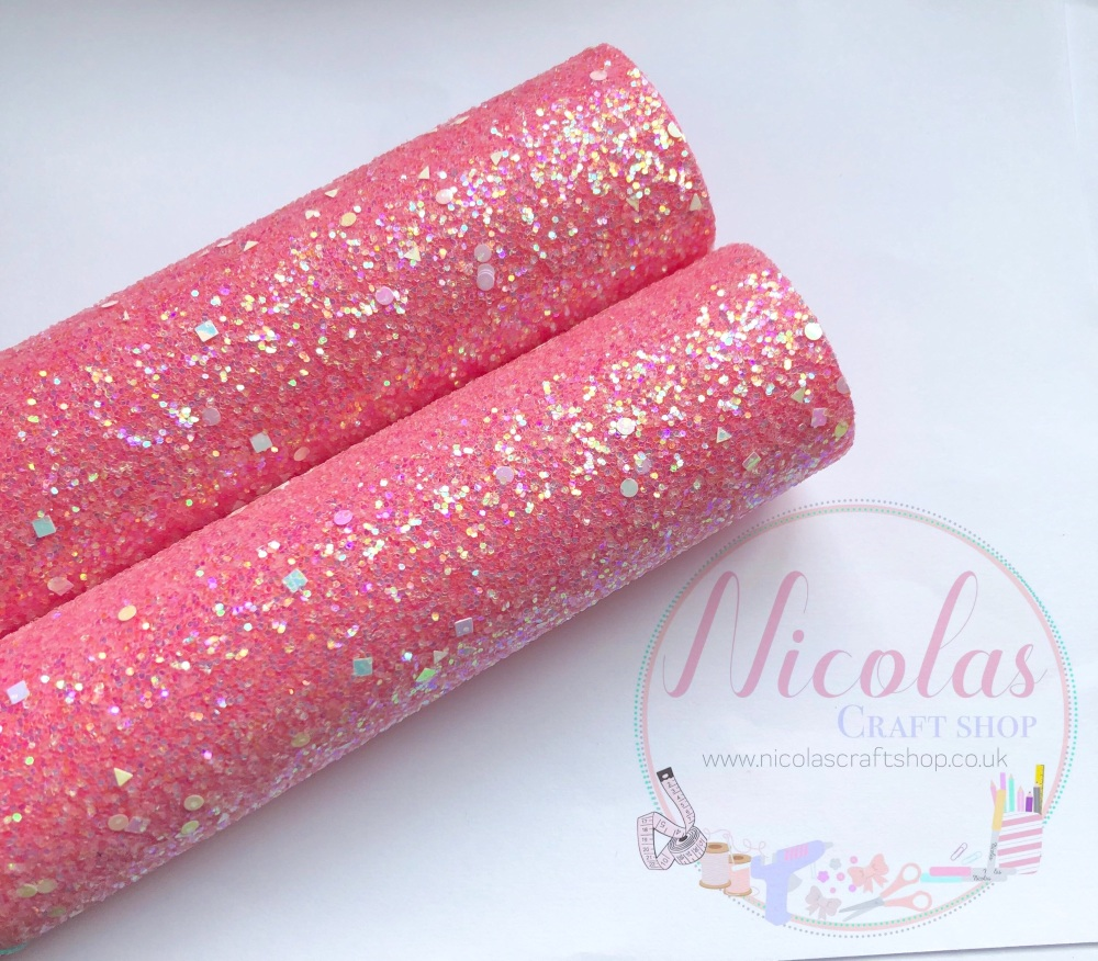 Rose pink a grade shape sequin chunky glitter