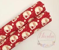 1090 - Red Santa printed canvas sheet a4