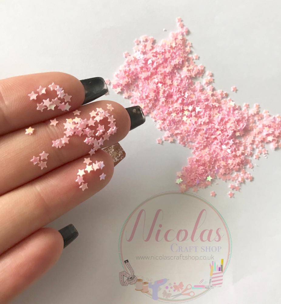 Pink star night glitter confetti sprinkles