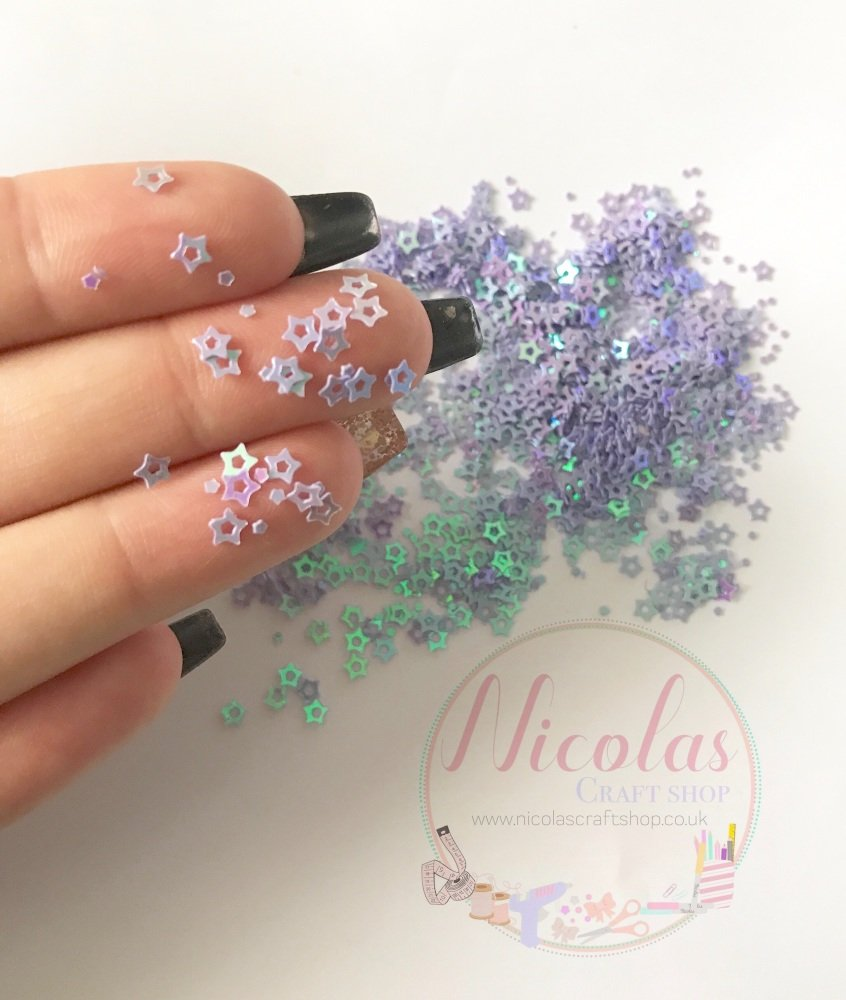 Purple star night glitter confetti sprinkles