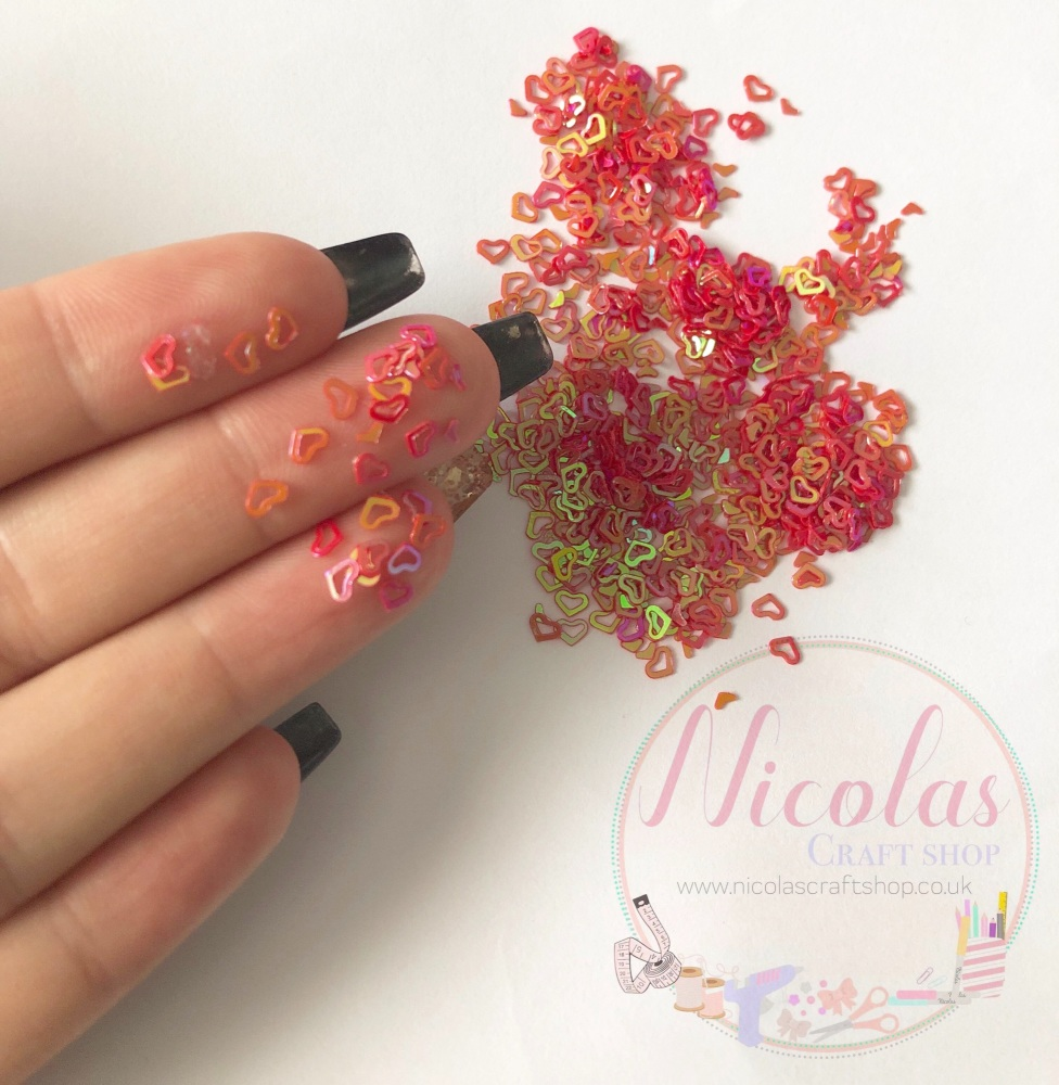 Red riding heart glitter confetti sprinkles