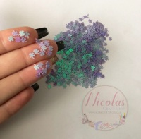 Purple lucky glitter confetti sprinkles