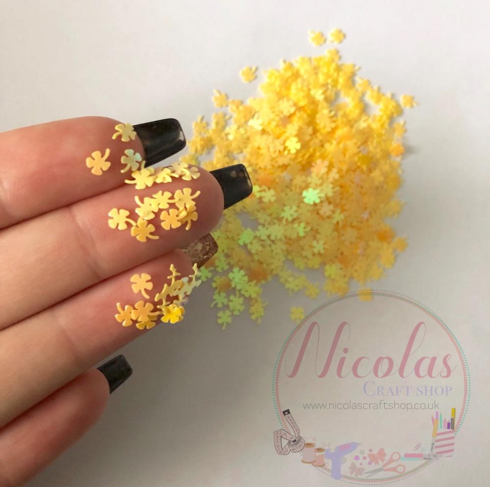 Yellow lucky glitter confetti sprinkles