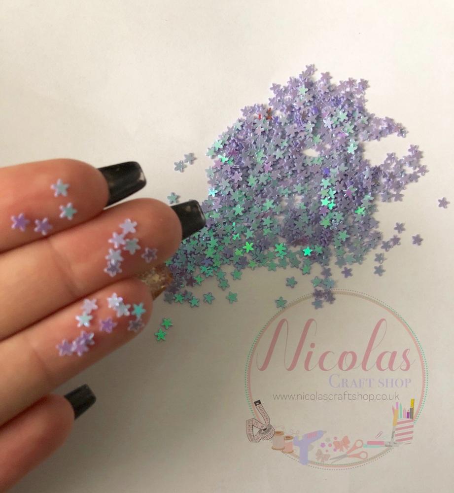 Purple flower glitter confetti sprinkles