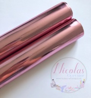 METALLIC baby pink leather a4