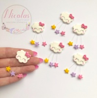 MINI STAR rain drop cloud polymer clay