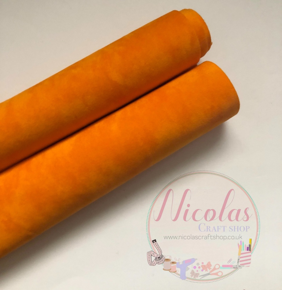 Double sided orange velvet sheet