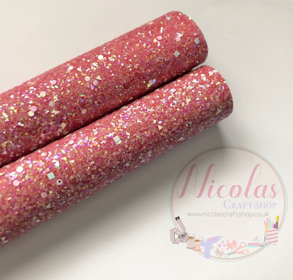 Red a grade shape sequin chunky glitter