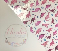 Transparent dinosaur printed jelly fabric