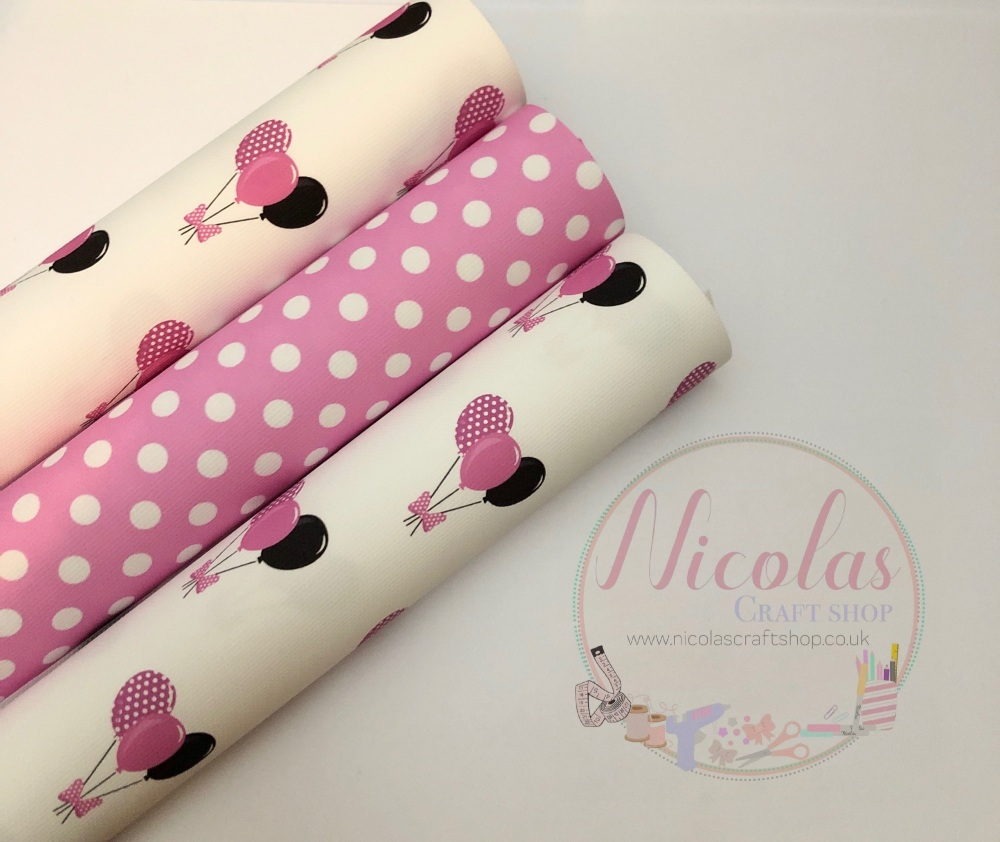 The pink polka dot balloon set