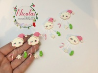 The mini pink xmas cloud polymer clay