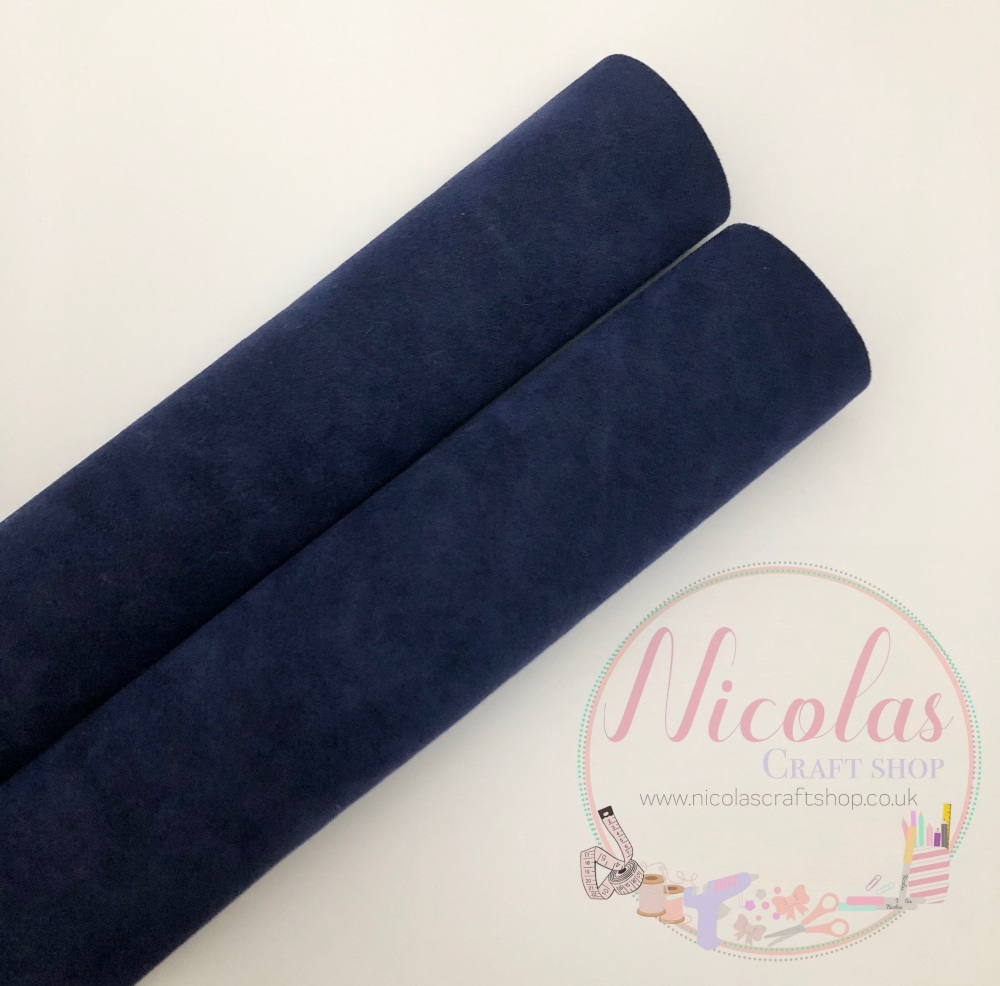 Double sided Navy Blue velvet sheet a4
