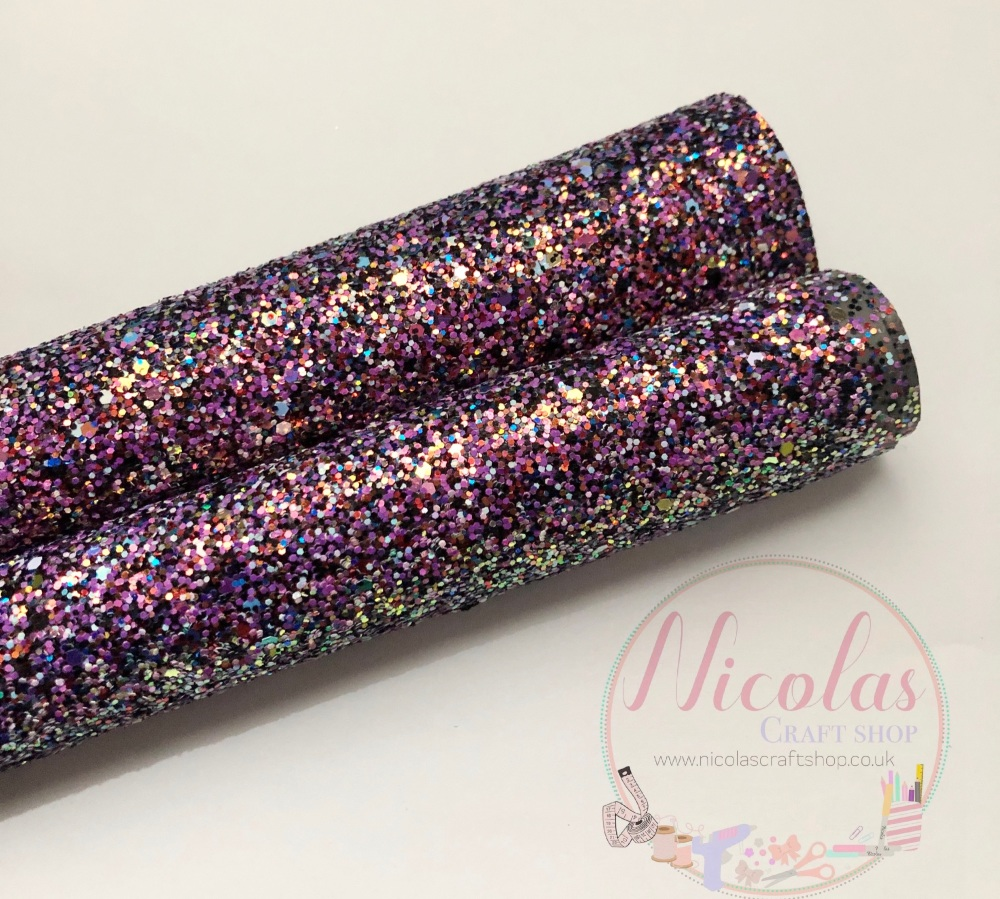A grade disco chunky glitter a4