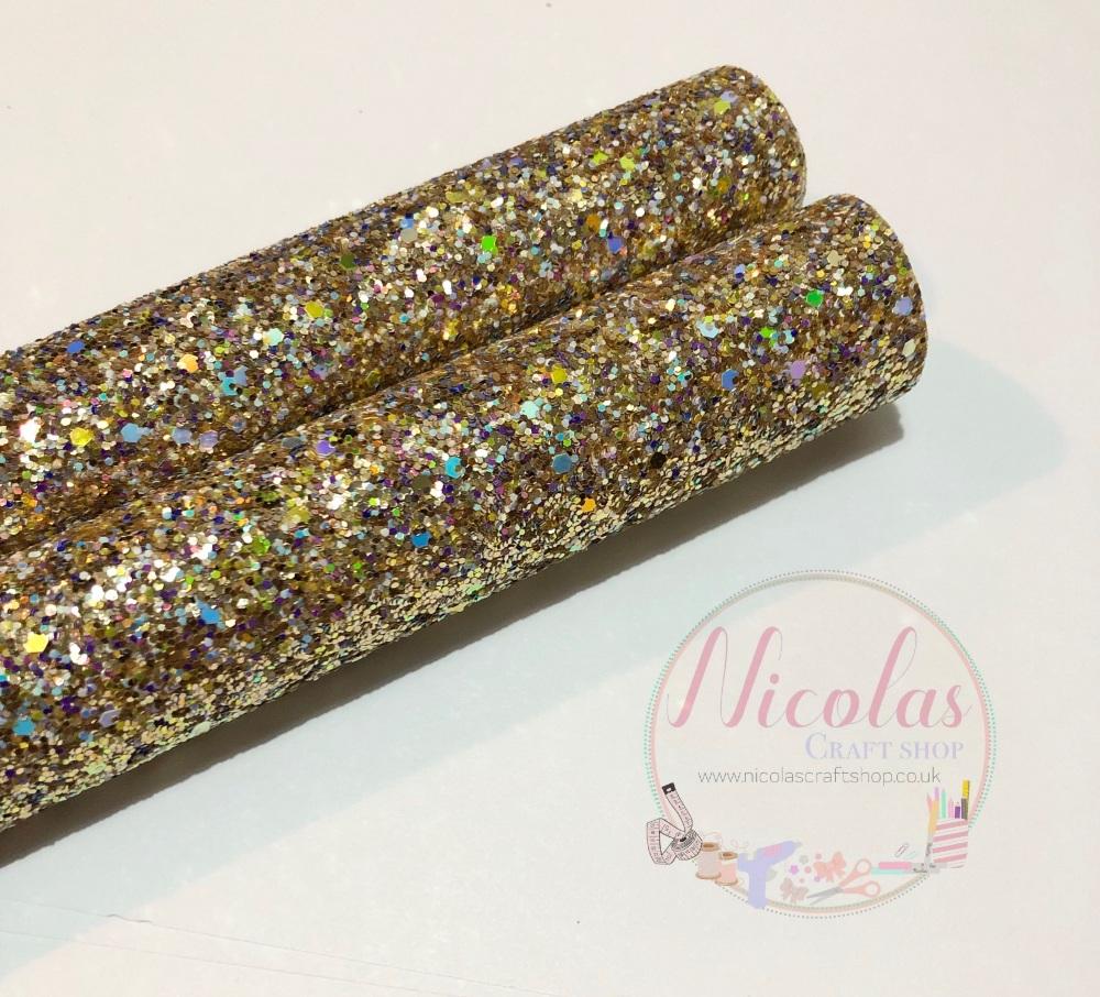 Gold sparkle chunky glitter a4