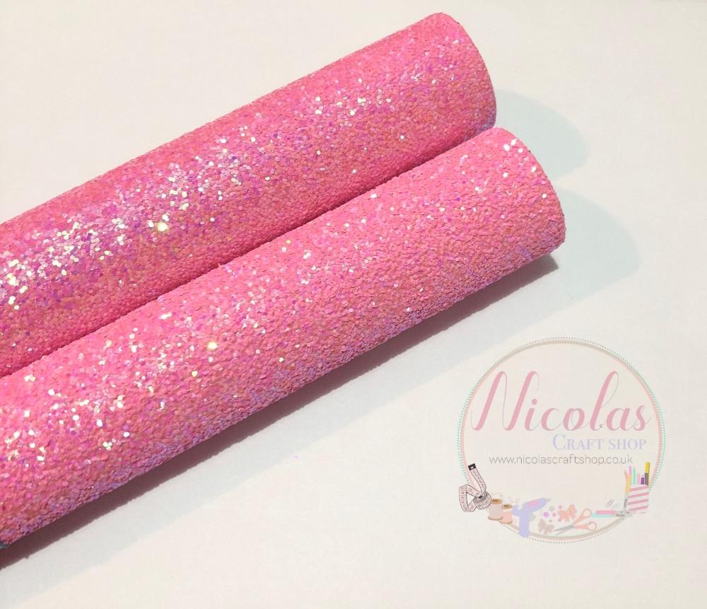 Leah Pink chunky glitter a4