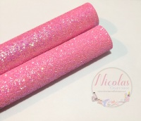 Leah Pink chunky glitter a4