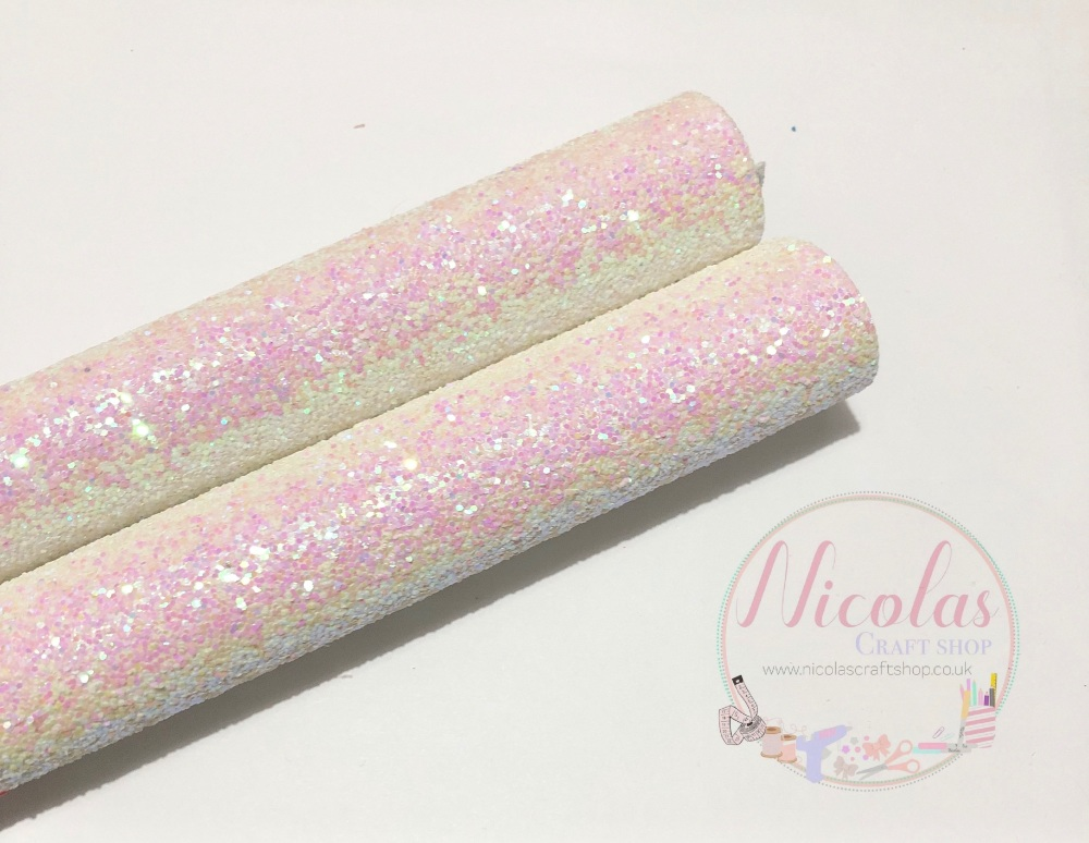 Pink dust chunky glitter a4