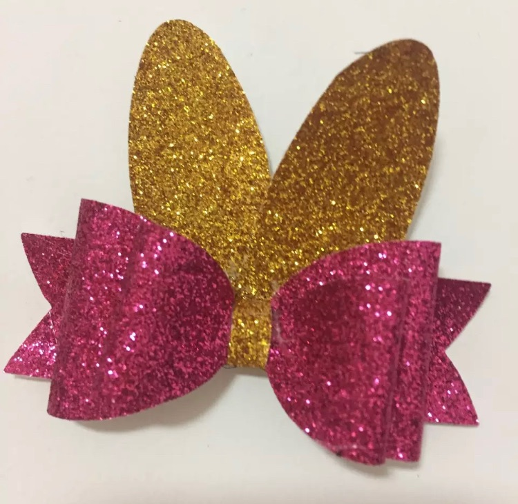 Bunny design 1 - easter bow plastic template