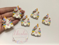 Golden Horn Pastel unicorn polymer clay