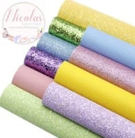 Pastel coloured bargain bundle fabric set - 10 piece!