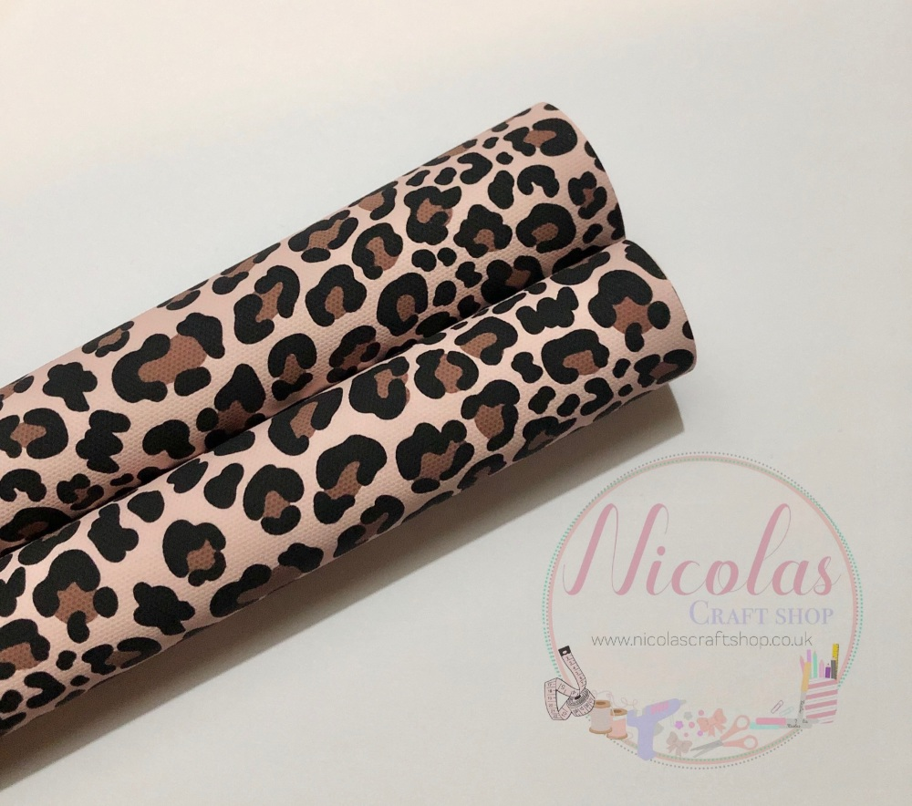 Leopard print printed canvas sheet