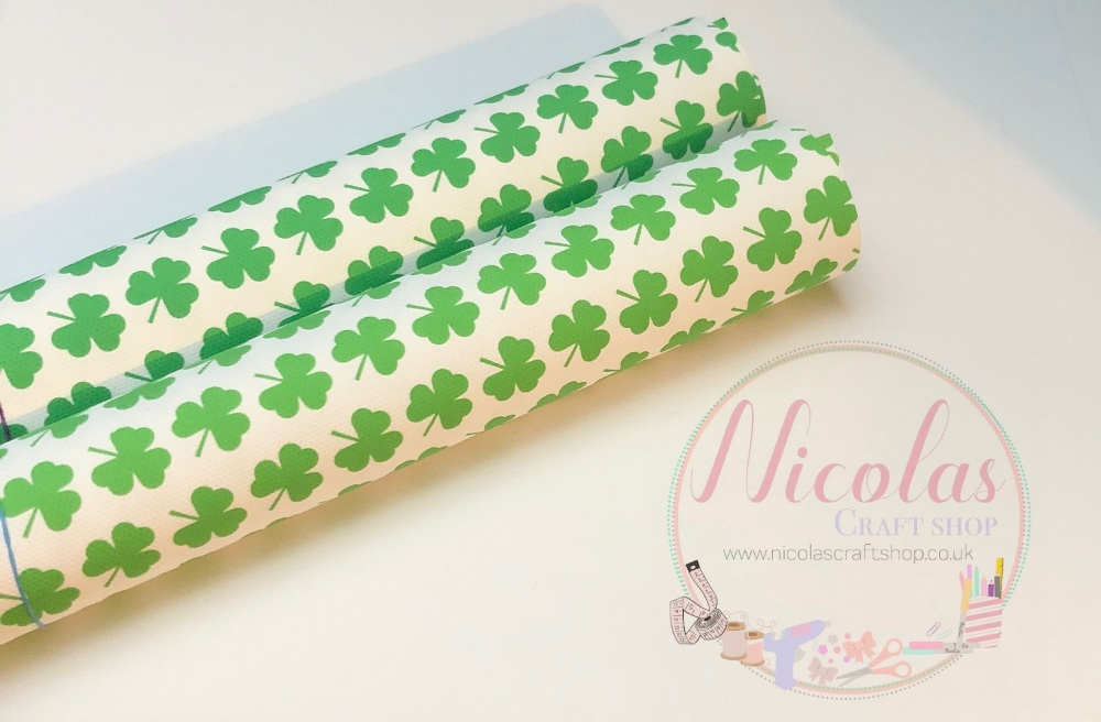 Clover shamrock printed canvas sheet