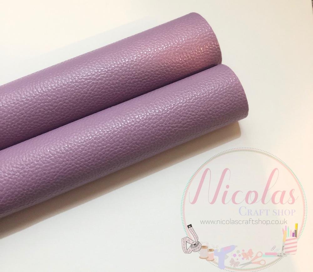 Litchi lilac plain leather a4