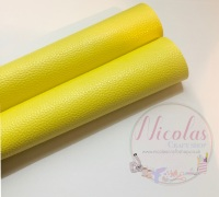 Litchi yellow plain leather a4