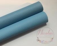 Litchi Baby Blue Plain leather a4