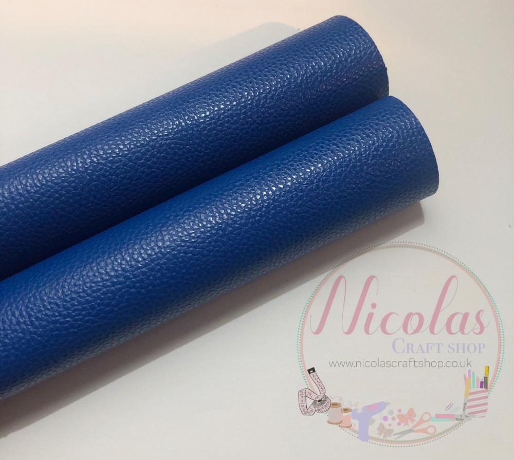 Litchi dark blue plain leather a4
