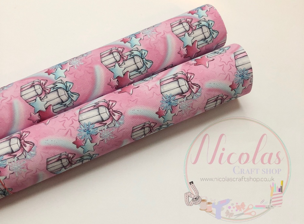 Pretty Pink presents printed canvas sheet