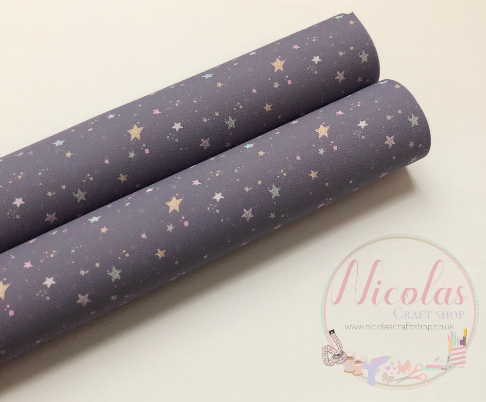 Grey Starry sky  printed canvas sheet