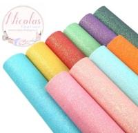Coloured fine glitter bundle fabric set - 10 piece!