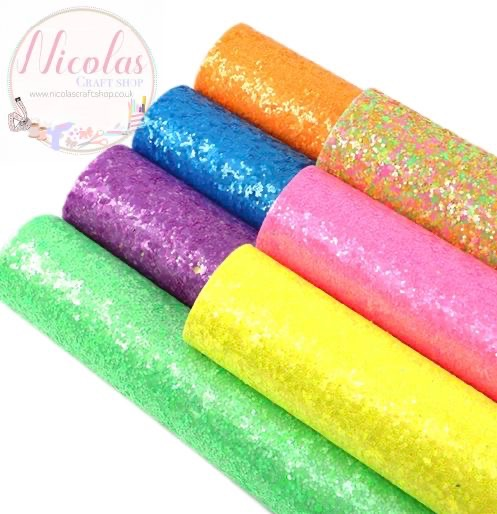 The Bright chunky glitter bargain bundle 7pc set