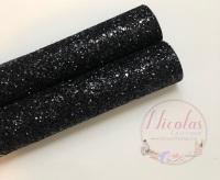 A grade black chunky glitter