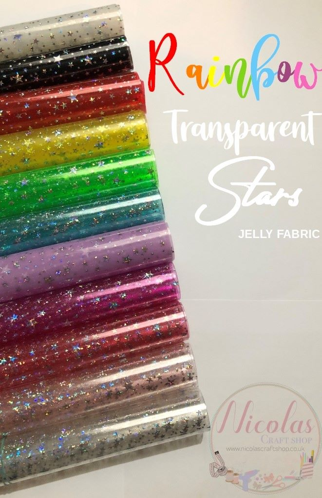 Transparent stars vinyl jelly fabric